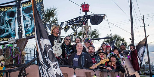 Pirates & Parrots Parade Ride Mardi Gras  Galveston Fat Tuesday Parade 2020