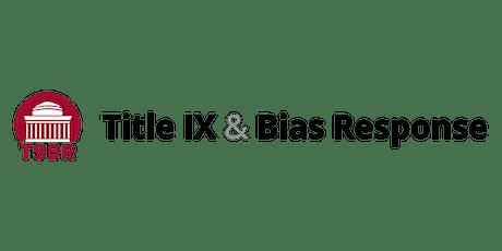 Title IX responsibilities for TAs tickets