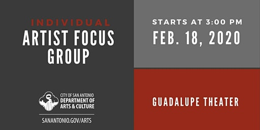 Individual Artist Focus Group - 3 p.m. Session