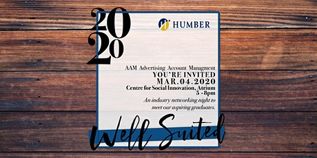 Well Suited 2020//Advertising Account Management Event//Humber College tickets