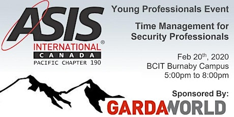 ASIS Young Professionals - Time Management for Security Professionals tickets