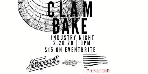 Clam Bake - Industry Night at Ledger ft. Narragansett & Privateer