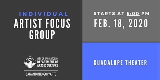 Individual Artist Focus Group - 6 p.m. Session