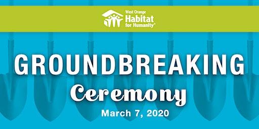 West Orange Habitat for Humanity Groundbreaking Ceremony