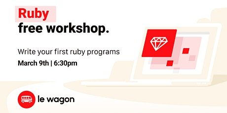 Ruby for Beginners | Free workshop with Le Wagon Rio Coding Bootcamp tickets