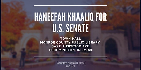 Bloomington Town Hall In-Person and/or Virtual Event tickets