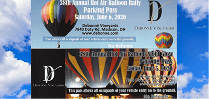 Hot Air Balloon Festival Parking Passes 2020