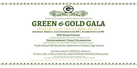 GHS Green and Gold Gala 2020 tickets
