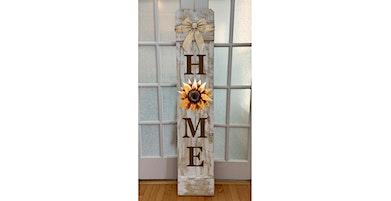 Sunflower Large Vertical wooden Porch sign Paint Sip Wine Art Maker Class