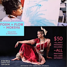 Form and Flow, paint with preet tickets
