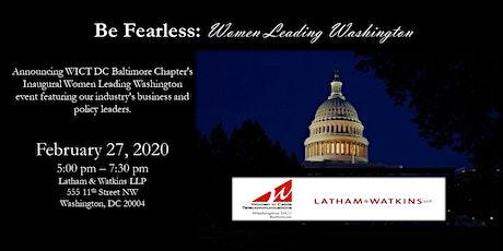 Be Fearless: Women Leading Washington tickets