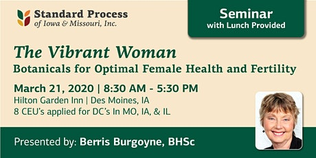 The Vibrant Woman: Botanicals for Optimal Female Health and Fertility tickets