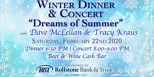 Winter Dinner & Concert with Dave McLellan & Tracy Kraus
