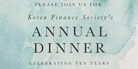 Korea Finance Society Annual Dinner 2020 tickets