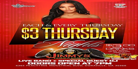 Three Dollars Thursday every Thursday featuring RNB and Hip Hop tickets