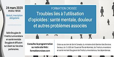 FORMATION CROISÉE-Santé mentale, douleur+ troubles d'utilisation d'opioïdes
