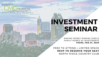 Raleigh Seminar: Making Money Owning Single Family Homes As Investments