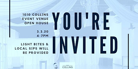 Beat the Winter Blues  @ 1010 Collins Event Center OpenHouse tickets