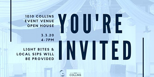 Beat the Winter Blues  @ 1010 Collins Event Center OpenHouse