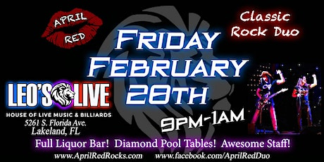 April Red debuts at Leo's Live Music & Billiards in Lakeland! tickets