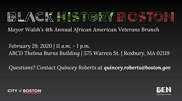 Mayor Walsh's 4th Annual African American Veteran  Appreciation Brunch