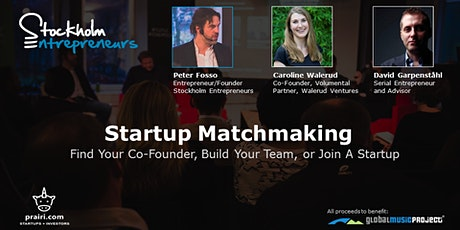 Startup Matchmaking: Find A Co-Founder, Build Your Team, or Join A Startup tickets