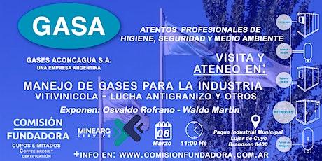 Manejo de Gases Industriales y Visita a Planta tickets