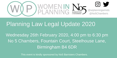 Planning Law Legal Update 2020 tickets