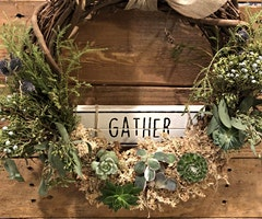 Living Succulent Wreath & Sign Workshop