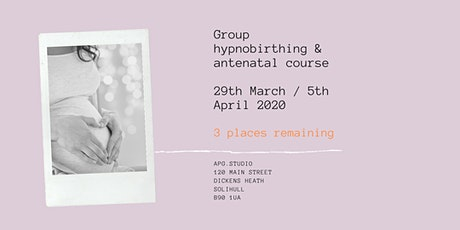 2 day Hypnobirthing and Antenatal Course tickets