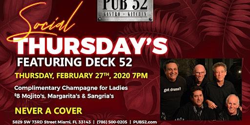Deck 52 is taking over Social Thursday!