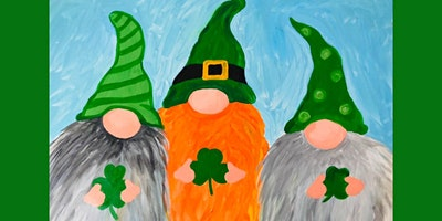 Irish Gnomes Canvas Paint Night Paint and Sip