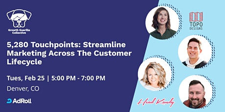 5,280 Touchpoints: Streamline Marketing Across The Customer Lifecycle tickets