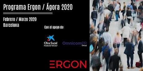 Sesión del programa Ergon/Ágora impulsado por la Fundación Ergon a celebrar entradas