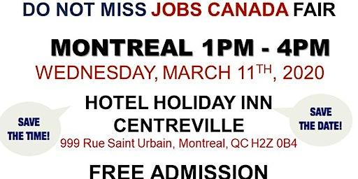 Montreal Job Fair – March 11th, 2020