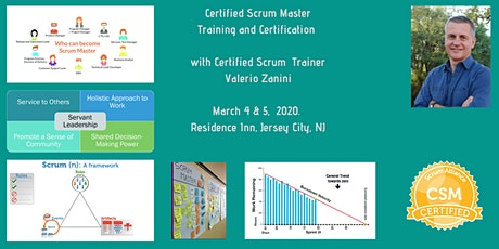 Certified ScrumMaster CSM class and certification tickets