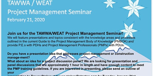 TAWWA/WEAT South Texas Project Management Seminar