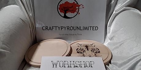Circular Chopping Board or Colouring Box Pyrography Workshop tickets
