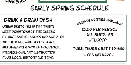 Drink Draw and Dash tickets