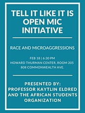 Tell It Like It Is Open Mic: Microaggressions  tickets