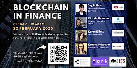 Blockchain in Finance tickets