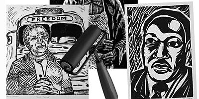 PRINTMAKING WORKSHOP AND ART TALK IN HONOR OF BLACK HISTORY MONTH
