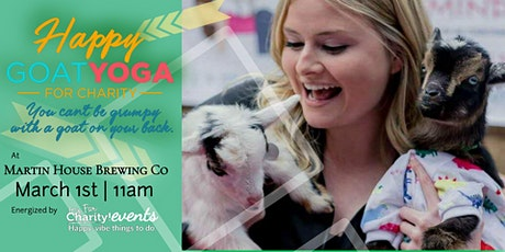 Happy Goat Yoga-For Charity at Martin House Brewing Company tickets