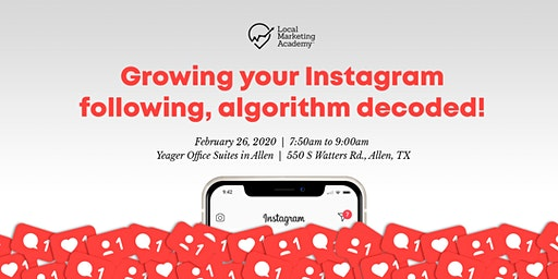 Growing your Instagram following, algorithm decoded!
