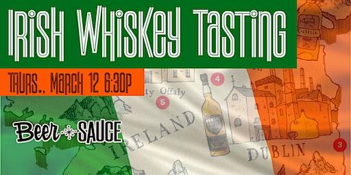 Pre-St. Paddy's Irish Whiskey Tasting
