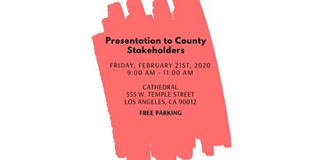 Presentation to County Stakeholders tickets