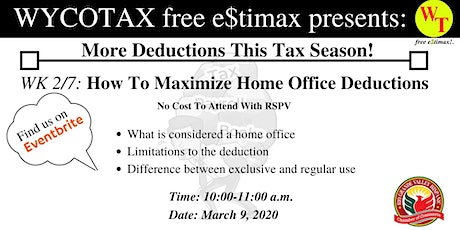 Part 2/7: How To Maximize Home Office Deductions tickets