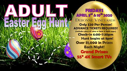 POSTPONED-ADULT Easter Egg Hunts 2020 DATE TBA tickets