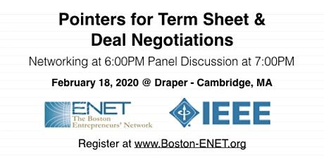 Term Sheet & Deal Negotiations for Startups   #ENET2912 tickets