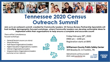 Tennessee 2020 Census Outreach Summit